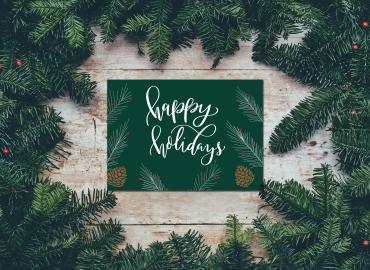 Christmas Card Designer-pines-holiday card 2017