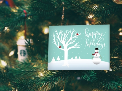 Christmas Card Designer-snowman-holiday card 2017