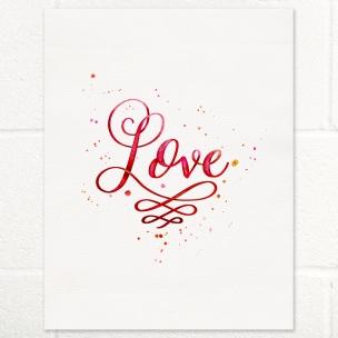Love watercolor lettering
