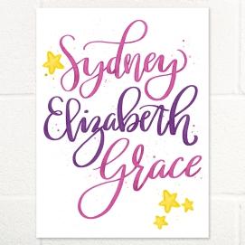 Sydney hand lettering